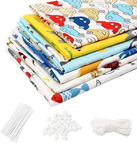 6Pcs Cotton Fabric Printed Floral Fabric Bundles for Sewing Patchwork Quilting Fabric Squares Bundles Pre-Cut Quilt Squares 15.7x19.7 (40cmx50cm) (Cartoon 001)