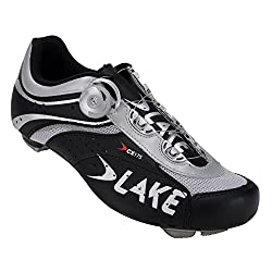 Lake Cycling 2015 Men's CX175 Road Cycling Shoe (39, Black/Silver)