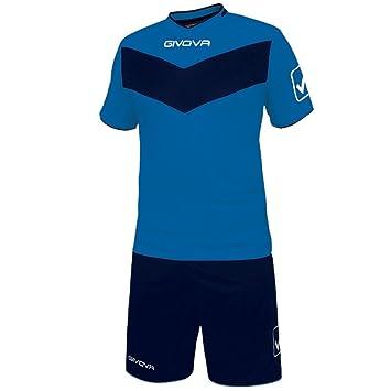 Givova, kit vittoria mc, azul/azul , 3XL