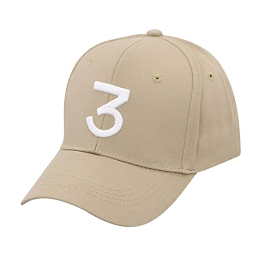 Vertily Hat Unisex Vintage Casual Number 3 Twill Solid Baseball Trucker Dad  Hat (Beige) 4c5ff19320b0