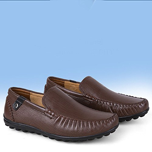 Slittamento Dark Business Lafers Liuxiaoqing Superficie Casual Scarpe Brown da Traspirante Guida Morbida Uomo RzAO1gq
