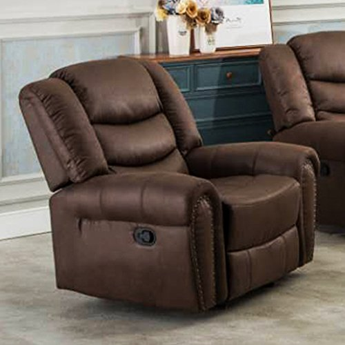 Coja by Sofa4life Brookhaven Faux Leather Glider Recliner, Brown (Brookhaven Leather)