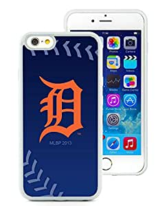 CMS Easy Use iPhone 6 4.7 inch TPU Cases Design with Detroit Tigers (2) in White