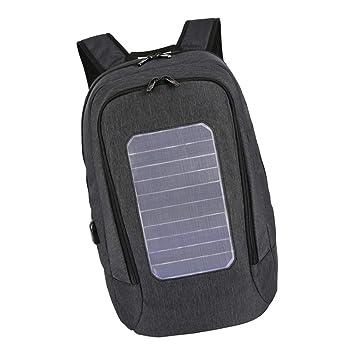 F Fityle Mochila con Panel Solar 5.3V Cargador USB ...