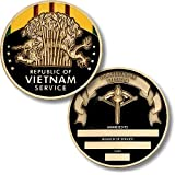 Vietnam Service Medal Coin - Engravable Challenge Coin