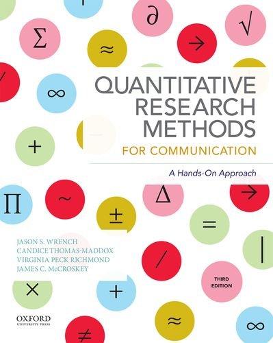 019045640X - Quantitative Research Methods for Communication
