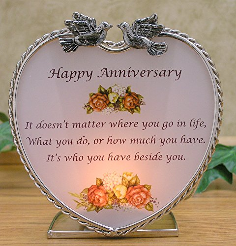 Banberry Happy Anniversary Candle Holder Decoration Gift ...