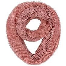 Luxury Divas Rose Pink Angora Super Thick Plush Winter Circle Infinity Scarf