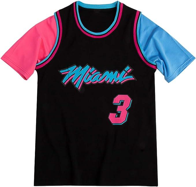 Miami Heat Dwyane Tyrone Wade Manga Corta Camiseta Hombre ...
