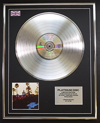EAGLES/LTD EDITION CD PLATINUM DISC/HOTEL CALIFORNIA