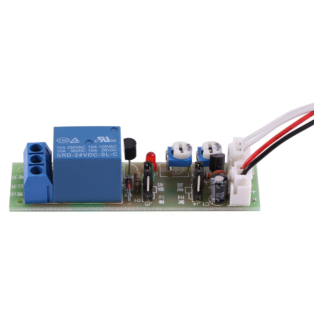 24V 0-15min Temporizador de ciclo ajustable Retardo On//Off Interruptor M/ódulo de rel/é DC 5V 0-60min 12V DC 24V 0-15 minutos ajustable