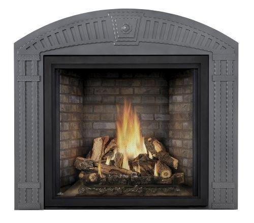Starfire LP Fireplace w/Oak Logs, Classic Front & Premium Barrier