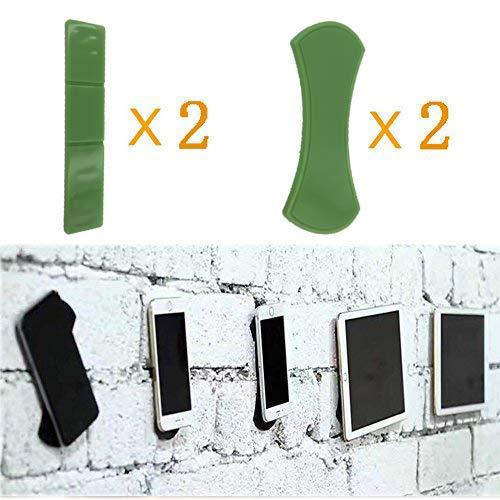 Universal Fixate Gel Pads Auto-Armaturenbrett Antirutschmatte St/änder f/ür alle Smartphones /& Tablets KingSnow 4 St/ück Handy St/änder Antirutschmatte KFZ Halterung Gr/ün