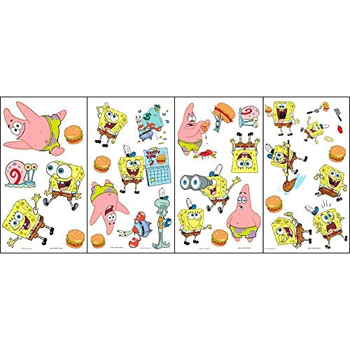 Self-Stick Appliques - Spongebob (4 Sheets Each 10 in. x 18 in. nominal)