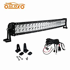 amazon com  sldx 144w 26inch curved led light bar 30