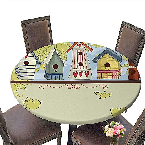 Cheery-Home RoundTable Cloth (Elastic Edge) Suitable for All Occasions, (65