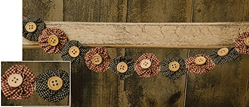 Heart of America Rag Garland with Wood Buttons ()