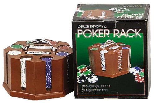 (Revolving Poker Chip Rack With Chips And Cards)