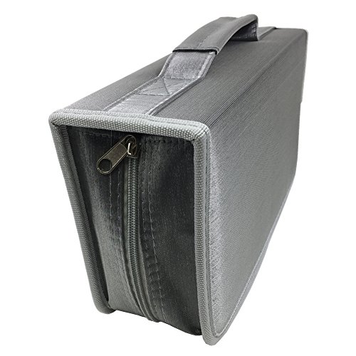 Price comparison product image Nizzco 128 Disc CD/DVD Portable Wallet CD Case Bag Album Box,Storage Organizer Holder,Protective DVD StorageGray