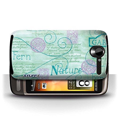 Etui / Coque pour HTC Desire G7 / Turquoise / Violet conception / Collection de Motif Nature