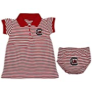 University of South Carolina Gamecocks Striped Game Day Dress with Bloomer,Garnet,3-6 Months