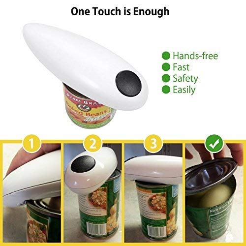 instecho 1 Electric Restaurant Can Opener, Smooth Edge Automatic Chef's Best Choice, (White) by instecho (Image #5)