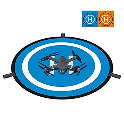 """Deyard 30""""(75cm) RC Drone and Quadcopter Landing Pad Waterproof Portable Helicopter Launch Pad for DJI Mavic Pro, DJI Spark, DJI Phantom 4/4 Pro and More"""