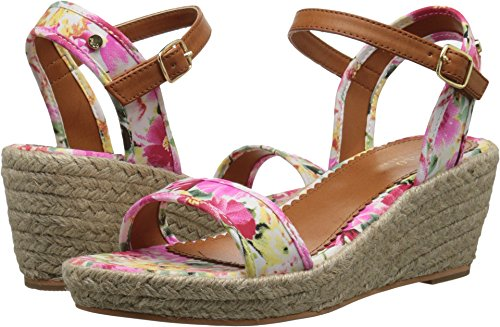 Polo Ralph Lauren Kids Girls' Carmen Pink Floral W/Jute-K, 7 M US Big Kid ()