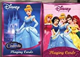 2 Decks Disney Princess Cinderella Snow White Belle Ariel Aurora Playing Cards