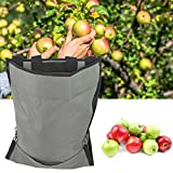 Mumusuki Waterproof Durable Garden Picking Apron Fruit Picking Bag Harvest Picking Apron Harvest Apple Picking Storage Bag for Fruit Vegetable, Adjustable Shoulder