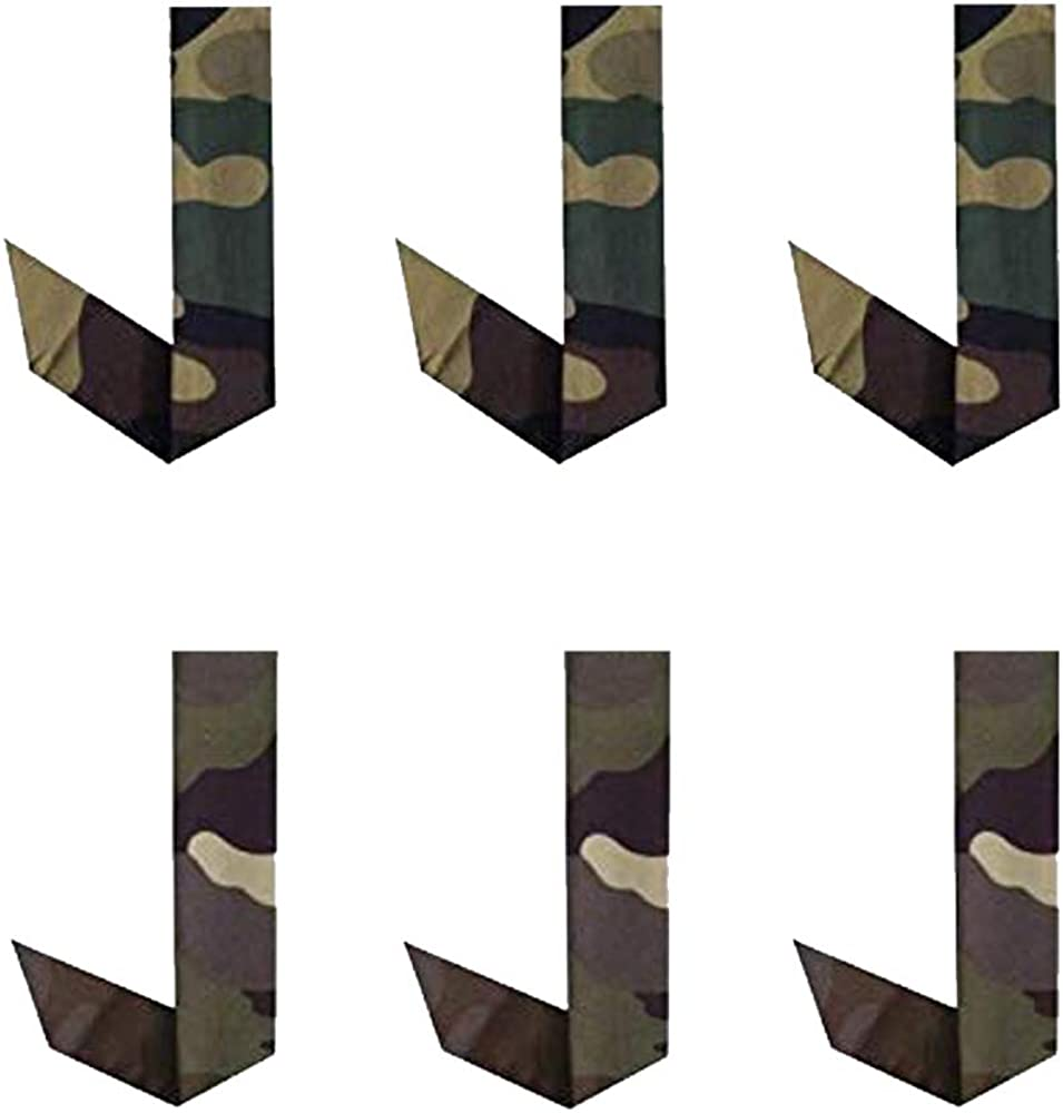 Blubandoo | Water Evaporative | Neckbandoo Cool Tie | With Cooling Crystals | 6 Pc | Washable And Reusable | Unisex | In Desert & Army Camouflage Color