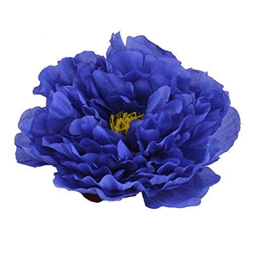 DealMux tessuto delle famiglie artificiale Peony Capolino fai da te a mano Petalo blu decorazione
