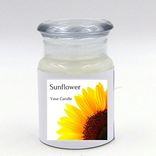 Vase Candle Sunflower Jar 30 Hour Burn Time | Premium Soy Paraffin Wax Blend | Highly Scented | Self-Trimming Wick