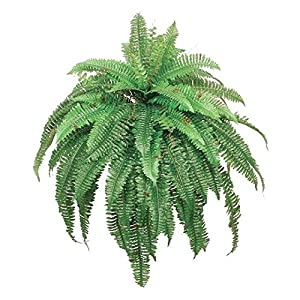 One 48 Inch 88 Branch Artificial Boston Fern Bush Plant Arrangement 34