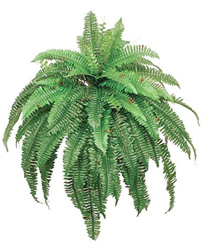 One 48 Inch 88 Branch Artificial Boston Fern Bush Plant Arrangement