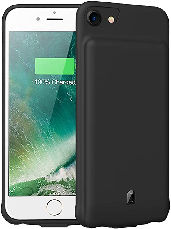 Battery Case for iPhone 6//6S//7//8 4.7 inch 6000mAh Portable Charging Case Protective Rechargeable Charger Case Extended Battery Compatible with iPhone 6 6S 7 8