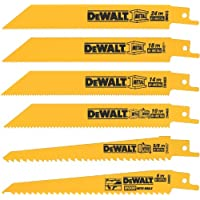 6-Pc Dewalt DW4856 Metal/Woodcutting Reciprocating Saw Blade Set
