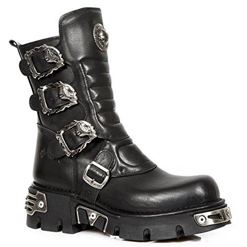 Nieuwe Rock Unisex-volwassenen M-391x-s1 Biker Boots, Schwarz, Uk 3.5, Uk 3,5 Zwart