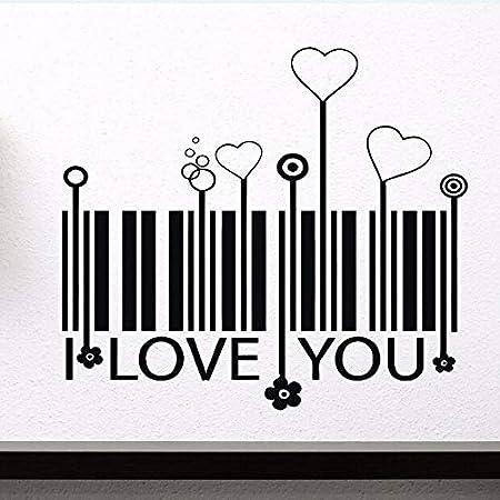 haochenli188 Vinilo Adhesivo de Pared Amor Estilizado Código de ...