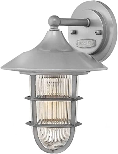 Hinkley 2480HE Transitional One Light Outdoor Wall Mount from Marina collection in Pwt, Nckl, B S, Slvr.finish,