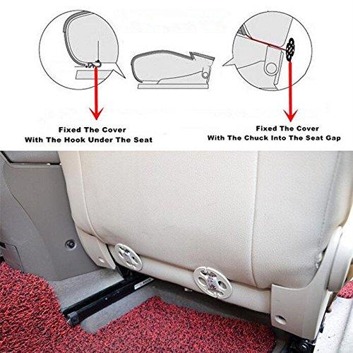 HONCENMAX Coprisedile per Auto Cuscino Tampone Stuoia Protettore per Forniture Automatiche per Sedan Hatchback SUV 2 Pacco Coprisedile Anteriore
