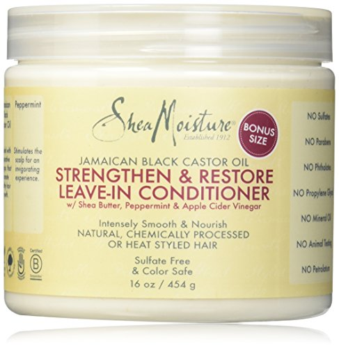 Price comparison product image Shea Moisture Jamaican Black Castor Oil Strengthen/Grow and Restore Leave-in Conditioner, 16 Ounce