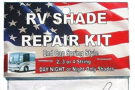 DELUXE RV Motorhome CAMPER Day Night COMPLETE SHADE REPAIR KIT with End Cap Spring from Shade Doctor of Maine (Replacement Cord Kit)