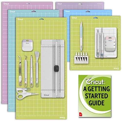 Cricut Machine Variety Mat Set (Light, Standard, Strong), Essential Mint Tool Set, Paper Tool Kit