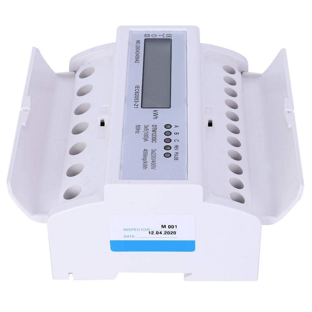 230//400V 5-100A Energy Consumption Digital Electric Power Meter Watt-Hour Meter 3 Phase KWh Meter with LCD