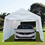 Peaktop 20' x 10' Heavy Duty Outdoor Carport Gazebo Canopy Party Tent Garage Car Shelter White