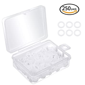 Amazon.com: Dreamtop 250pcs Clear Rubber O-Ring Rubber Keyboard ...