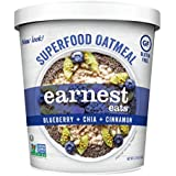 Earnest Eats Gluten-Free Oatmeal with Superfood Grains, Quinoa, Oats and Amaranth - Superfood Blueberry Chia - (Case of 12 - Single Serve Cups), 2.35 oz