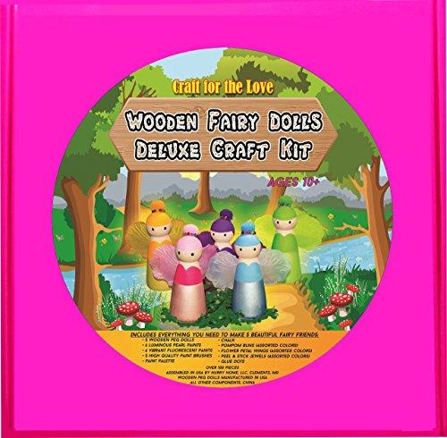 17 off wooden fairy dolls deluxe craft kit for children. Black Bedroom Furniture Sets. Home Design Ideas