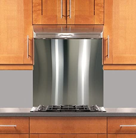 "Stainless Steel Backsplash 30"" x 36"" ..."